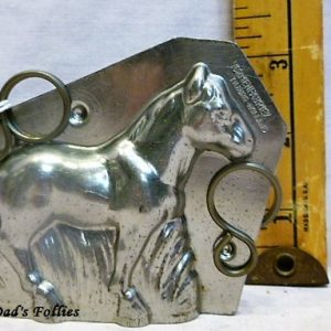 old antique metal vintage chocolate mold for sale unique gift horse