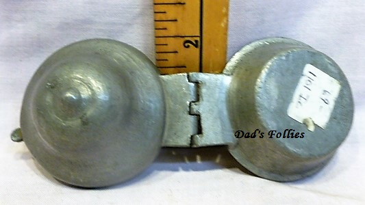 old antique metal pewter vintage ice cream mold for sale food