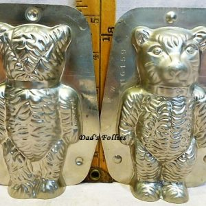 old antique metal vintage chocolate mold for sale teddy bear