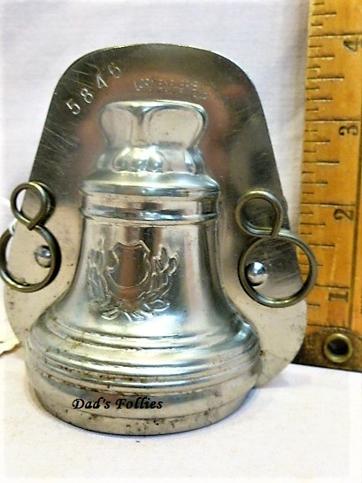 old antique metal vintage chocolate mold for sale bell