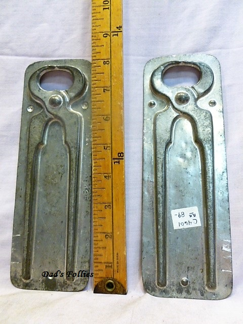 old antique metal vintage chocolate mold for sale Anton REiche
