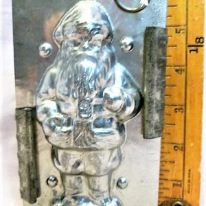 old antique metal vintage chocolate mold for sale Santa