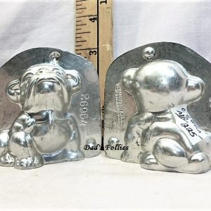 old antique metal vintage chocolate mold for sale animal