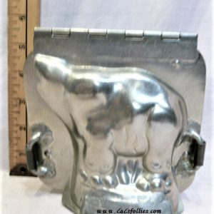old antique metal vintage chocolate mold for sale elephant