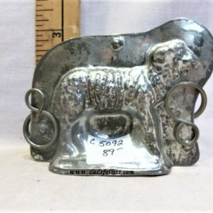 old antique metal vintage chocolate mold for sale sheep lamb
