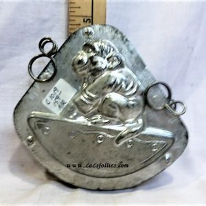 old antique metal vintage chocolate mold for sale monkey