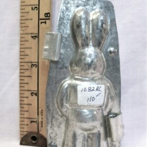 old antique metal vintage chocolate mold for sale bunny