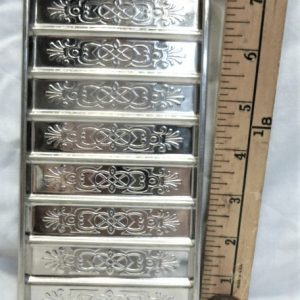 old antique metal vintage chocolate mold for sale flat