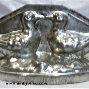 old metal vintage antique chocolate mold for sale unique love birds