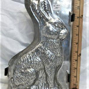 old metal vintage antique chocolate mold for sale unique bunny