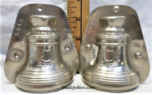 old metal vintage antique chocolate mold for sale unique bell