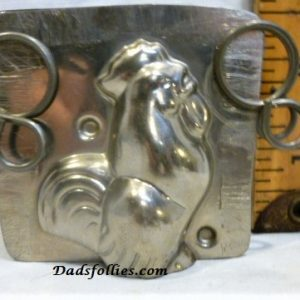 old metal vintage antique chocolate mold for sale unique rooster