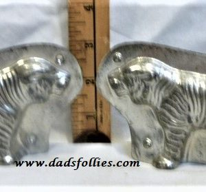 old metal vintage antique chocolate mold for sale tiger